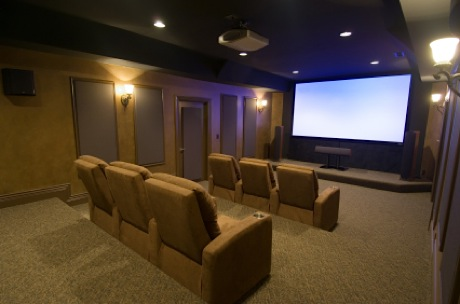 Typical Media Room For Southlake Homes